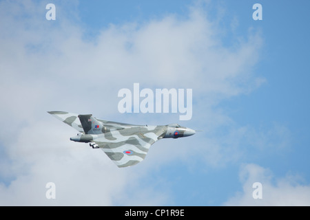 Avro Vulcan Bomber XH558  (civil aircraft registration G-VLCN) The Spirit of Great Britain, flying at Windermere - Stock Photo