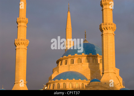 Muhammad Al-Amine Mosque, Downtown, Beirut, Lebanon. - Stock Photo
