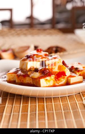 Close-up of Chinese Mapo Tofu - Stock Photo