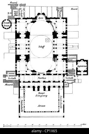 Floor Plan Of The 6th Century Byzantine San Vitale Church