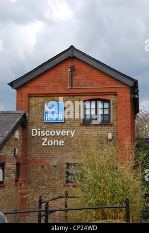 RSPB Discovery Zone Building Wat tyler country park - Stock Photo