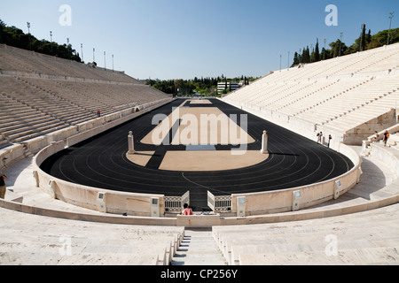 The Panathenaic stadium, also known as Kallimarmaro. Athens, Greece. - Stock Photo