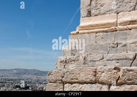 Propylaea of the Athenian Acropolis, Greece. - Stock Photo