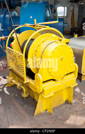 Auxiliary Winch on the Drill Floor - Stock Photo