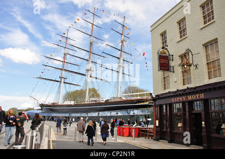 The restored 'Cutty Sark' Clipper Ship, Greenwich, London Borough of Greenwich, Greater London, England, United - Stock Photo