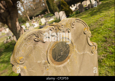 Financial crisis and the death of the Euro epitaph RIP 1999-2012 EU - Stock Photo