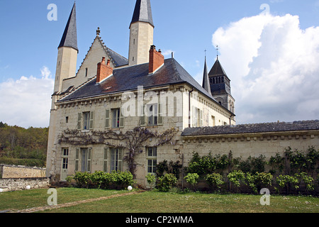 Fontevraud Abbey, abbaye de Fontevraud, France. - Stock Photo