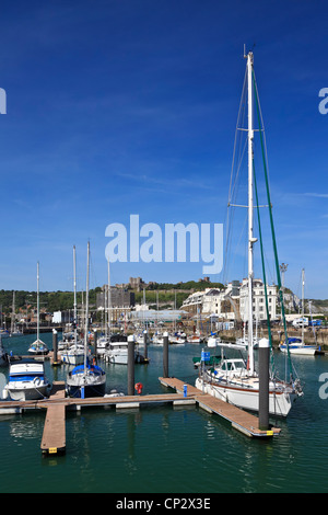 3796. The Marina and the Castle, Dover, Kent, UK - Stock Photo