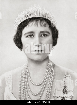 Queen Elizabeth, The Queen Mother. Elizabeth Angela Marguerite Bowes-Lyon, 1900 – 2002. Queen consort of King George - Stock Photo