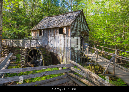 Cable Mill historic area in Cades Cove in the Great Smoky Mountains National Park in Tennessee - Stock Photo