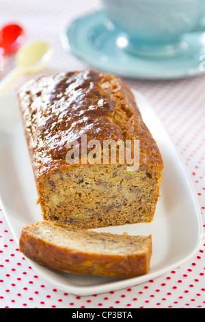 Banana loaf cake - Stock Photo