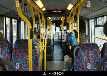 Inside view of  London Double Decker Bus[Editorial only] - Stock Photo