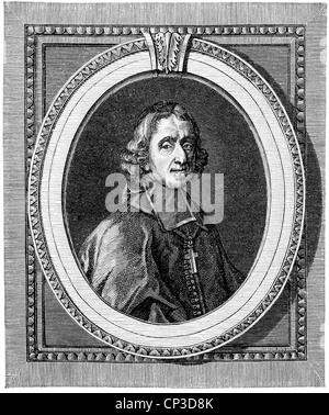 François de Salignac de La Mothe-Fénelon, 1651 - 1715, a French archbishop and writer, Historische Druck aus dem - Stock Photo