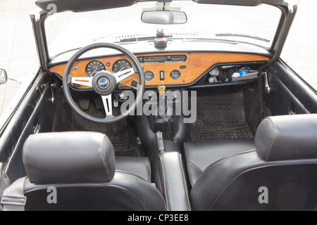 triumph spitfire dashboard stock photo royalty free image 48254186 alamy. Black Bedroom Furniture Sets. Home Design Ideas