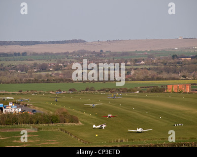 Old Sarum airfield Salisbury Wiltshire England UK - Stock Photo