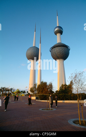 Kuwait City Kuwait Kuwait Towers - Stock Photo