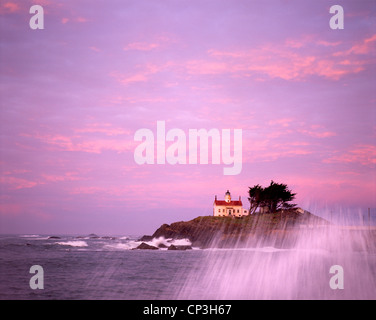 Photo of Battery Point Lighthouse, Crescent City, California, USA - Stock Photo