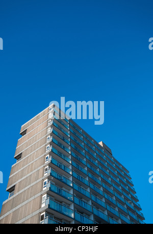 Castle House a Brutalist tower block in the centre of Southampton, Hampshire, UK - Stock Photo