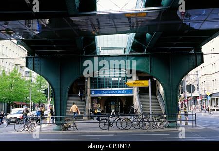 Eberswalder Strasse train station at Prenzlauer Berg district in Berlin. - Stock Photo