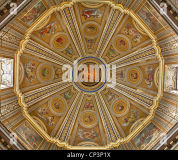 Rome - cupola of Santa Maria di Loreto church - Stock Photo