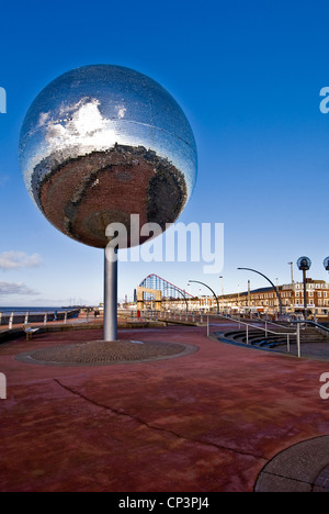 The mirror ball 'They Shoot Horses, Don't They' at Blackpool pleasure beach, Lancashire, England, UK - Stock Photo