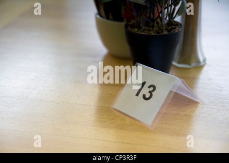 table number 13 - Stock Photo