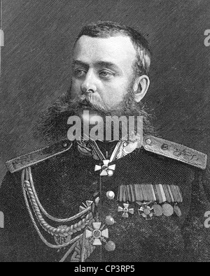MIKHAIL SKOBELEV (1843-1882) Russian general - Stock Photo