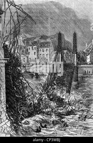 disasters, structural failures, Angers Bridge collapse, France, 16.4.1850, Additional-Rights-Clearences-NA - Stock Photo