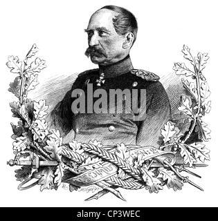 events, Austro-Prussian War 1866, persons, Lieutenant General von Schmidt, commanding general of the Prussian II - Stock Photo