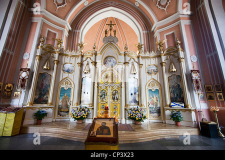 Chesme church Church of St John the Baptist St Petersburg Russia - Stock Photo