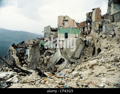 Sele Valley Earthquake In Campania - Stock Photo