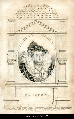 Portrait of Queen Elizabeth I of England. - Stock Photo