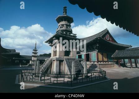 South Korea - Kyongju - Pulguk-sa Temple or Bulguksa (a World Heritage Site by UNESCO, 1995) - Stock Photo