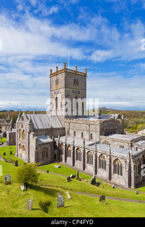 St Davids Cathedral Pembrokeshire west Wales UK GB EU Europe - Stock Photo