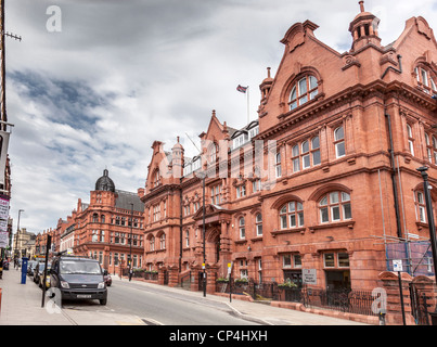 Wigan Town Hall in Library Street, formerly the home of Wigan Technical College. - Stock Photo