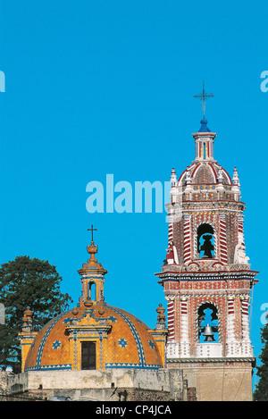 MEXICO CHURCH OF SANTA MARIA Tonantzintla AROUND PUEBLA - Stock Photo