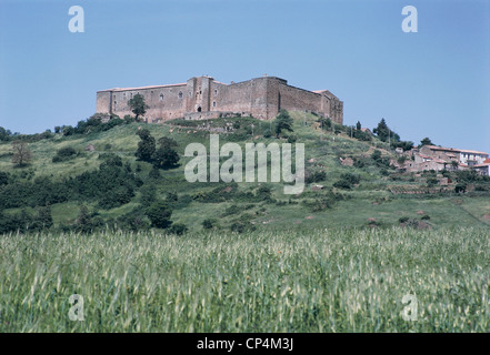 Basilicata - Castel di Lagopesole (Bz). Castle - Stock Photo