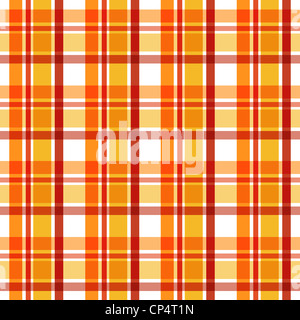 Trendy plaid pattern in orange and red colors - Stock Photo
