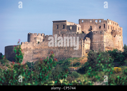 Calabria - Rocca Imperiale (CS). The castle of Frederick II, XIII century. - Stock Photo
