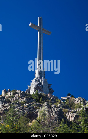Spain, San Lorenzo de El Escorial, Valle de los Caidos, Valley of the fallen, monument to the casualty of the Spanish - Stock Photo