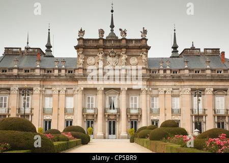 Spain, Castilla y Leon, San Ildefonso, Palacio Real de La Granja de San Ildefonso, Royal Palace of King Philp V, - Stock Photo