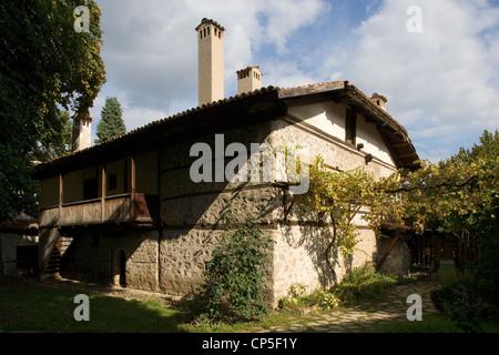 Bulgaria - Bansko. Neofit Rilski House-Museum, home to an exhibition dedicated to the Bulgarian educator - Stock Photo