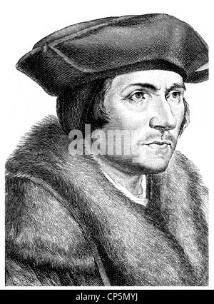 Thomas Morus or More, 1478 - 1535, an English statesman, humanist writer and a saint and martyr of the Roman Catholic - Stock Photo
