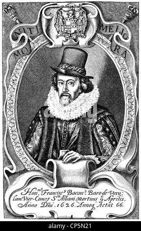 Francis Bacon or Baron Baco of Verulam, 1561 - 1626, an English philosopher and statesman, pioneer of empiricism - Stock Photo