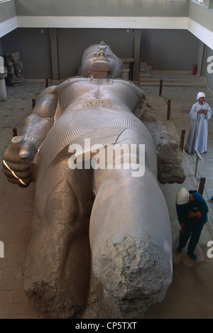 Egypt - Memphis - Colossal statue of Ramesses II, Dynasty XIX. - Stock Photo