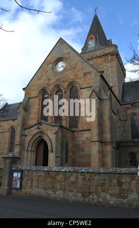 Dornoch Cathedral Scotland March 2012 - Stock Photo