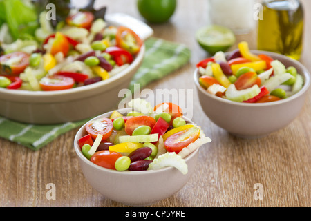 Celery and beans salad - Stock Photo