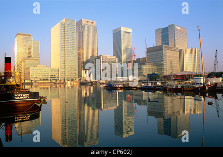 England, London, Docklands, Canary Wharf - Stock Photo