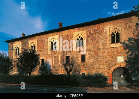 LOMBARDY Cassano d'Adda CASTLE BORROMEO - Stock Photo