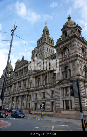 Glasgow city chambers home of the city council Scotland UK - Stock Photo